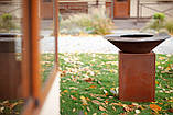Гриль-мангал, барбекю HOLLA GRILL Original Rust  закрытая тумба, фото 8