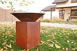 Гриль-мангал, барбекю HOLLA GRILL Original Rust  закрытая тумба, фото 9