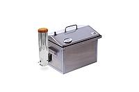 Коптильня горячего и холодного копчения с дымогенератором и термометром (400х300х310)