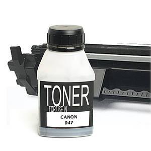 Тонер для Canon 047 (чёрный порошок), 60 грамм / флакон (1 х заправка) (TNC-CRG-047-TN-BK)
