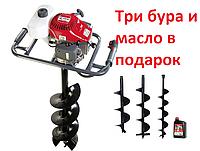 Мотобур 5.1 кВт +Подарок 3 Бура и масло Elko 43-12