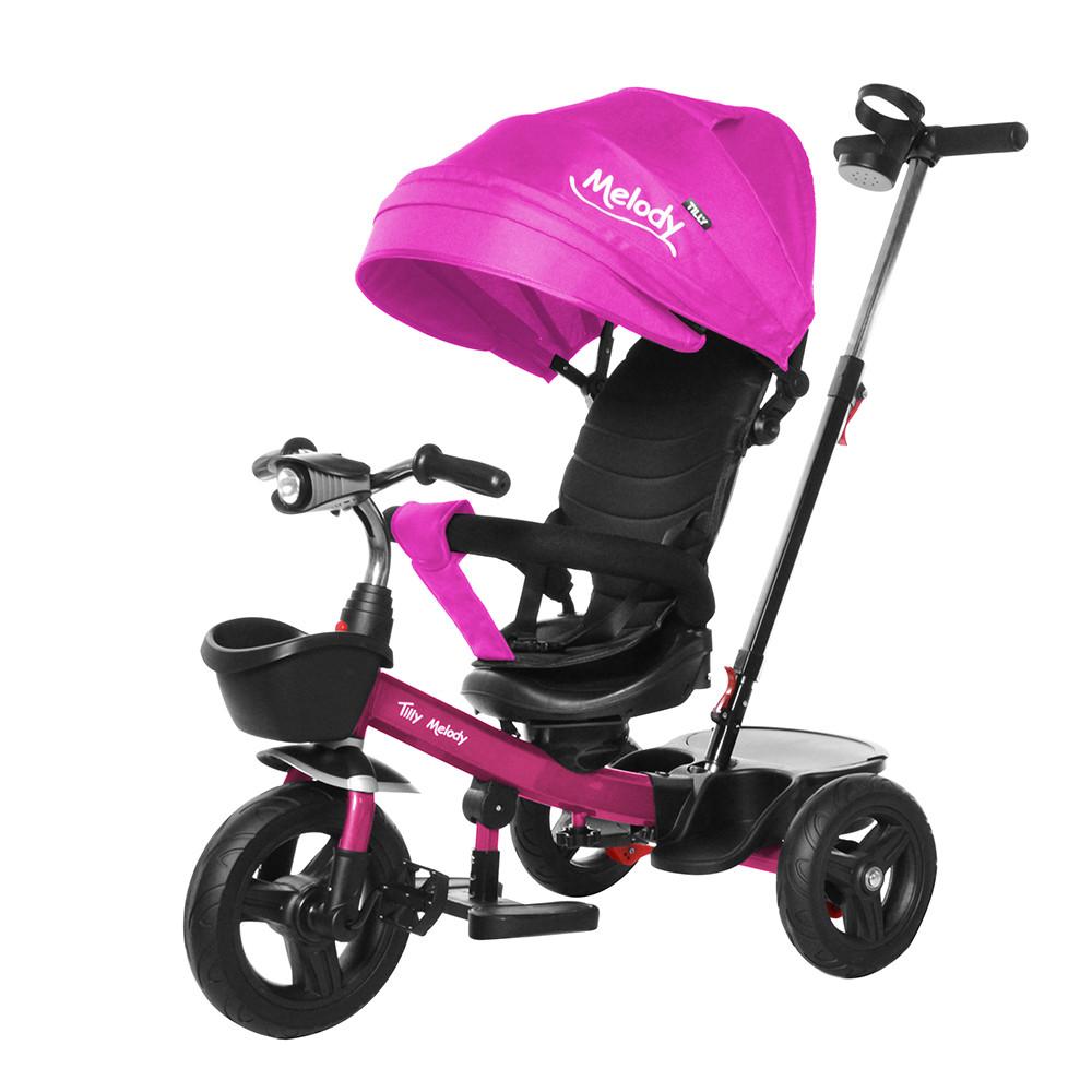 Велосипед триколісний Tilly Melody T-385 Малиновий