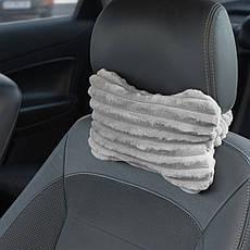 Подушка DRÖM Luxury косточка для автомобиля Серый (10401), фото 3