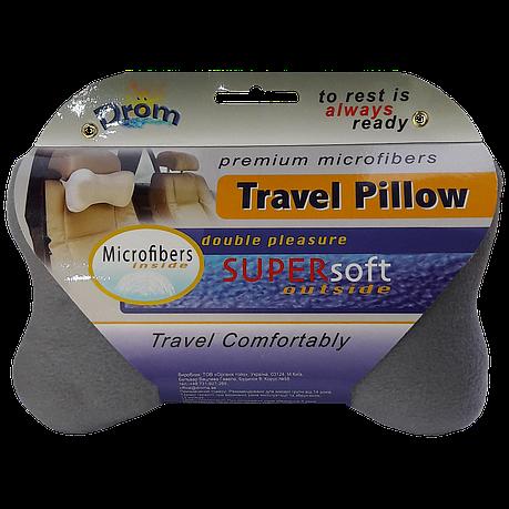 Подушка для путешествий DROM косточка Темно-серый (14001), фото 2