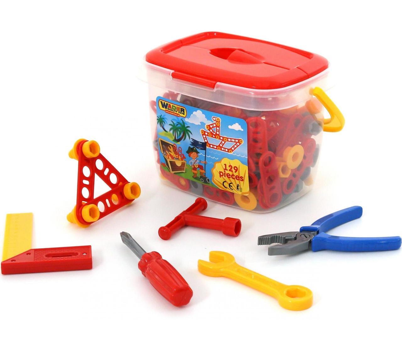 Игровой набор инструментов №2 (47168) Полесье, 129 элементов в ведре