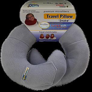 Подушка для путешествий DROM змейка Светло-серый (11002), фото 2