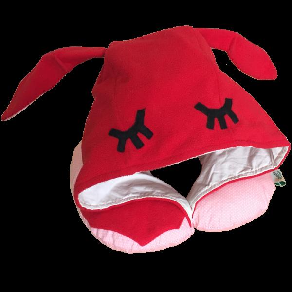 Подушка Organic Toys путешествий с капюшоном Красный (20201)