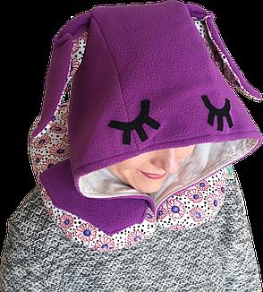 Подушка Organic Toys для путешествий с капюшоном Фиолетовый (20202), фото 2