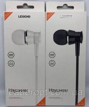 ОПТ Навушники вакуумні дротові Legend LD1010