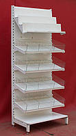 Торговый кондитерский стеллаж «Авилон» 230х95 см., белый, Б/у, фото 1