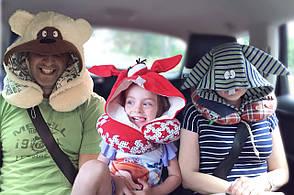 Подушка Organic Toys для путешествий с капюшоном Коричневый (20501), фото 2
