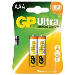 Батарейка GP AAA LR03 ULTRA Alcaline * 2 (GP24AU-2UE2)
