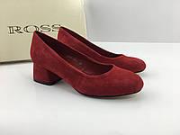 Велюровые туфли обтяжной каблук 4 см тм Ross