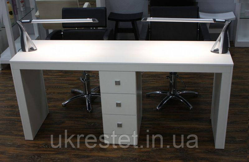 Маникюрный стол на два рабочих места Престиж