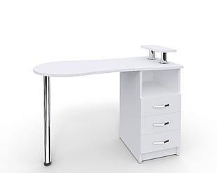 Маникюрный складной стол УкрЭстет №2 белый