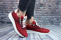 Кроссовки Reebok женские красные кожа+сетка