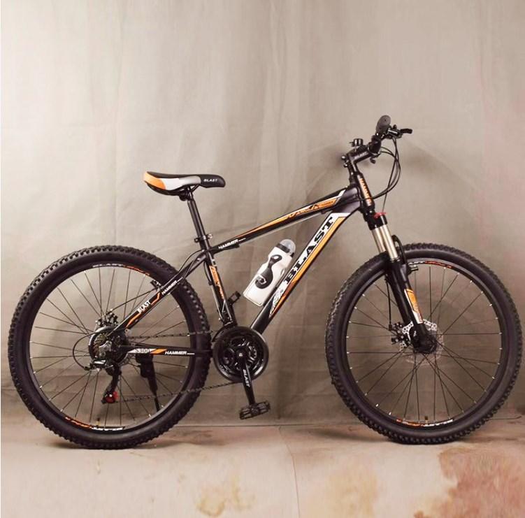 Подростковый велосипед колеса 26 дюймов S300 Blast-New Чёрно-Оранжевый