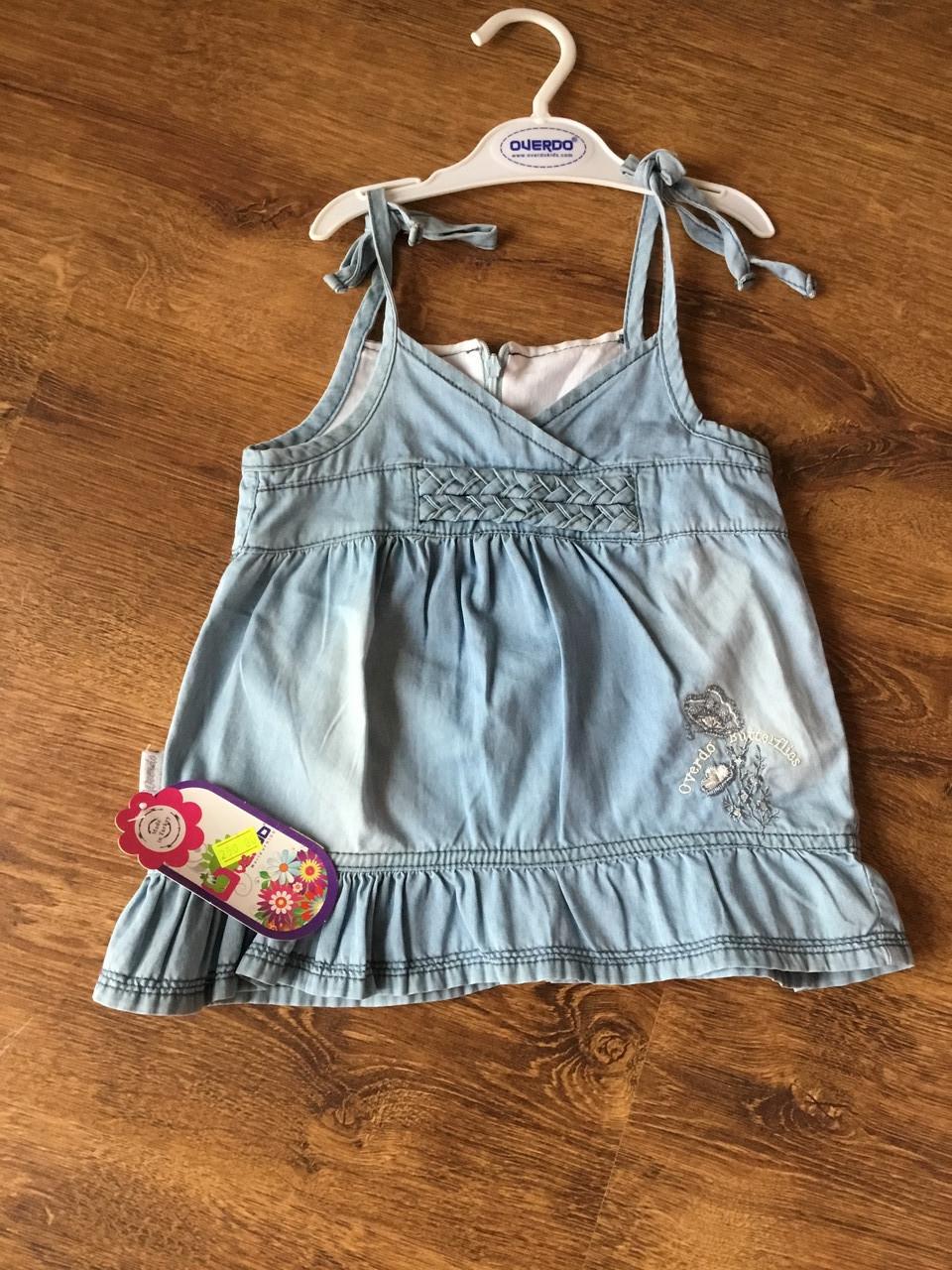 Джинсовое платье-сарафан для девочки