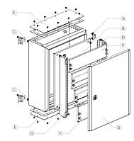 Щит розподільчий металевий IP66 Noark Electric (Чехія) серії MHS (1000х600х300мм), фото 1