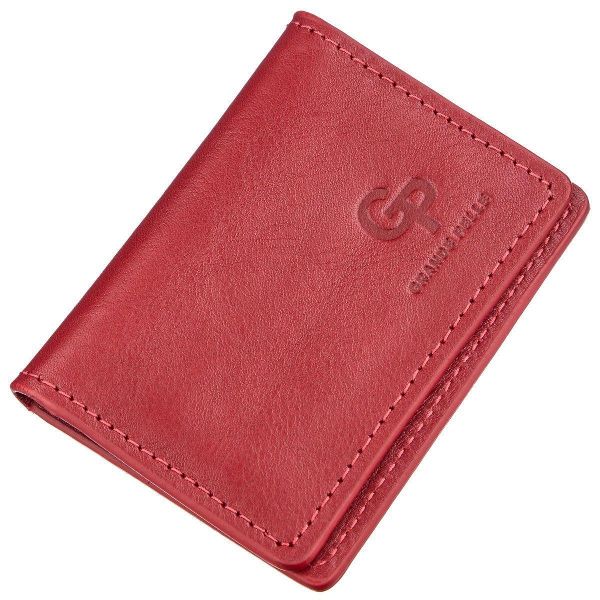 Обложка Для Водительских Прав Кожаная Grande Pelle 11188 Красная, Красный