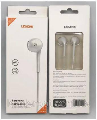 [ОПТ] Наушники вакуумные проводные Legend LD1011 с микрофоном