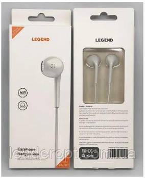 [ОПТ] Навушники вакуумні дротові Legend LD1011 з мікрофоном