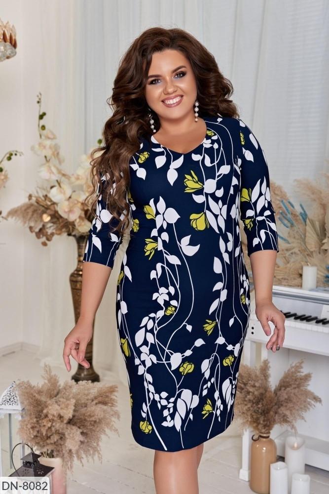 Стильное платье   (размеры 52-56) 0235-57