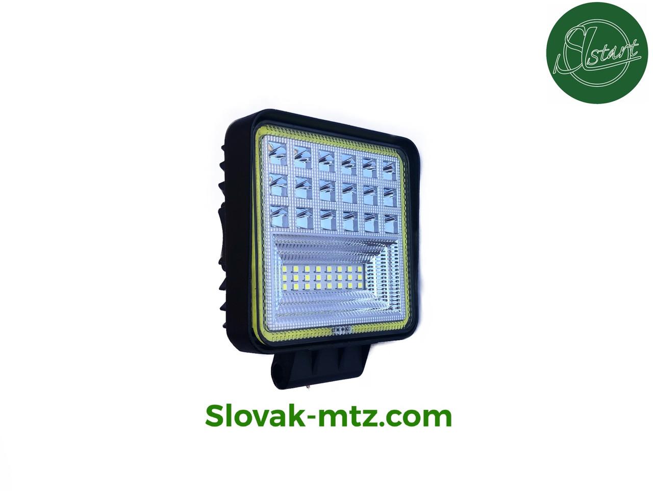 Светодиодная LED фара рабочая 126W Ангельский глаз