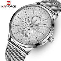 Часы NAVIFORCE NF3003 All Silver 44mm Quartz.