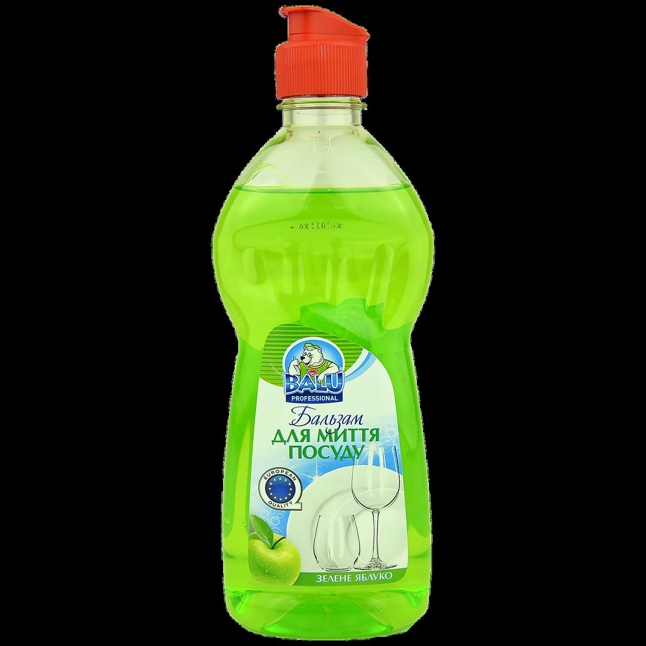 """Бальзам для мытья посуды BALU® """"Зеленое яблоко"""", 500мл, 24шт/ящ"""