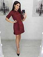 Стильное платье-рубашка с рукавом до локтя, фото 1