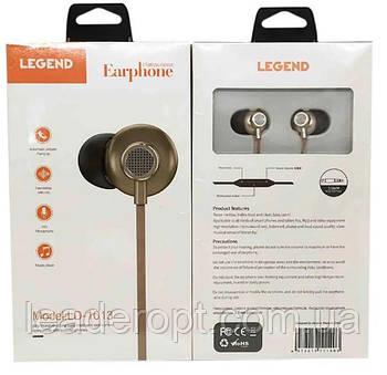 [ОПТ] Навушники вакуумні дротові Legend LD1013 з мікрофоном