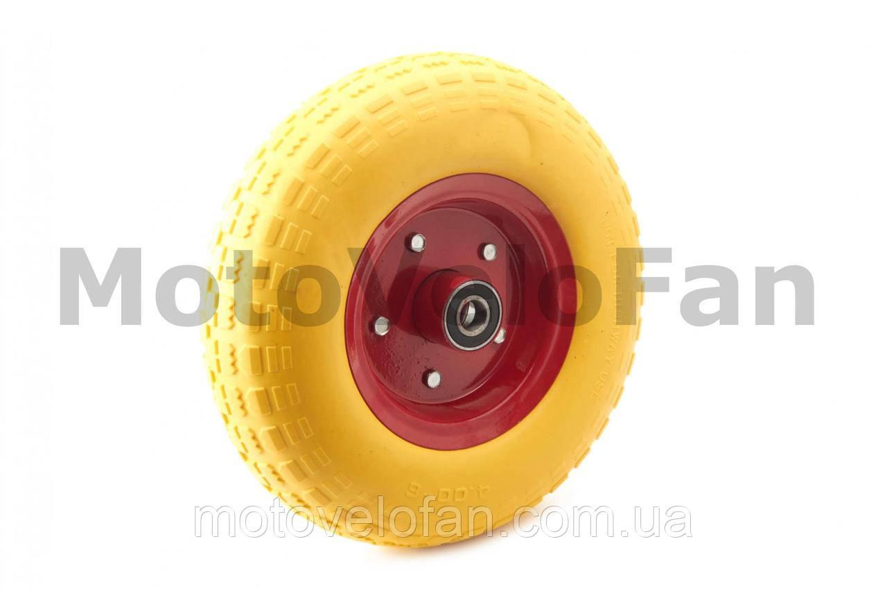 Колесо   4,00 -6   TL   (бескамерное, под ось d-20мм )   (желтое)   MRHD