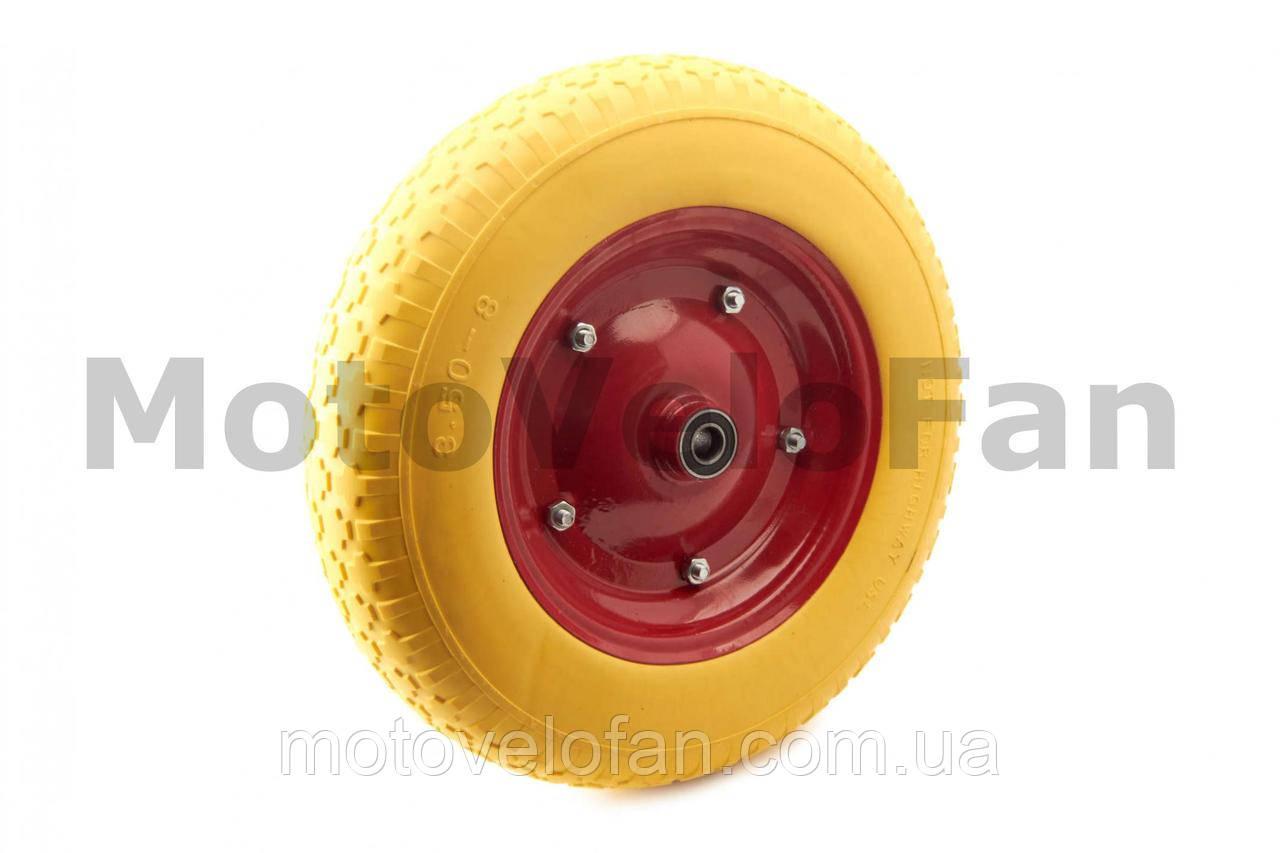 Колесо   3,50 -8   TL   (бескамерное, под ось d-16мм )   (желтое)   MRHD