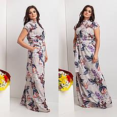 Красивое длинное летнее платье с пуговицами 44-64 р-ры, фото 3