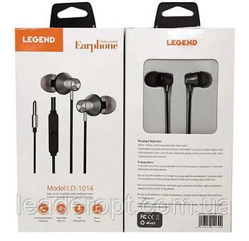 [ОПТ] Навушники вакуумні дротові Legend LD1014 з мікрофоном