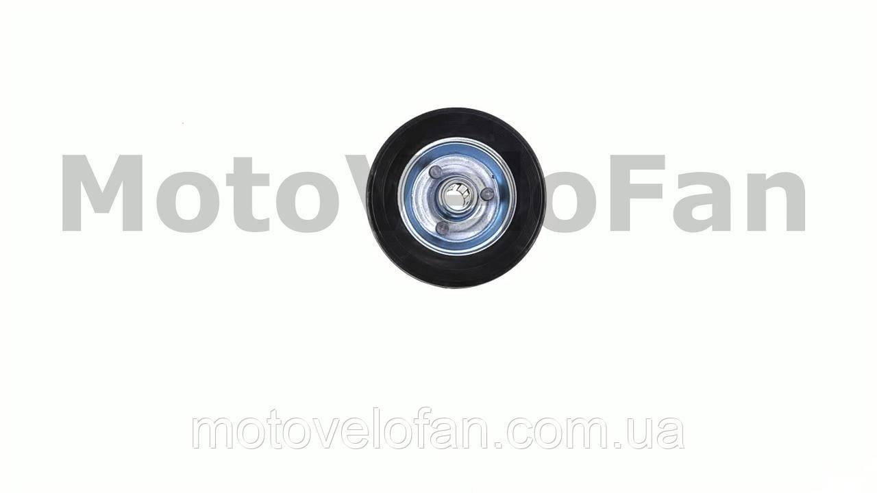 Колесо для тачек и платформ (литая резина)   (100mm, ступица 40mm, под ось 12mm)   ELIT