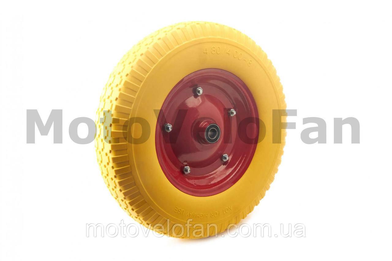 Колесо   4,00 -8   TL   (бескамерное, под ось d-16мм )   (желтое)   MRHD