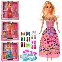"Кукла типа ""Барби"" 28 см. в коробке платья, обувь, с аксессуарами 1031B-2"