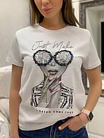 Стильна жіноча футболка /  Стильная модная женская футболка на лето весна