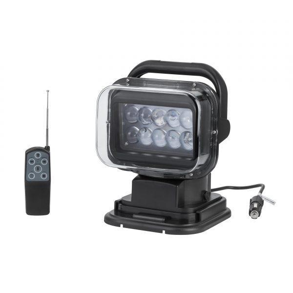 Прожектор пошуковий для човни, катери, яхти CH001-50W LED 4000LM ЧОРНИЙ 12В