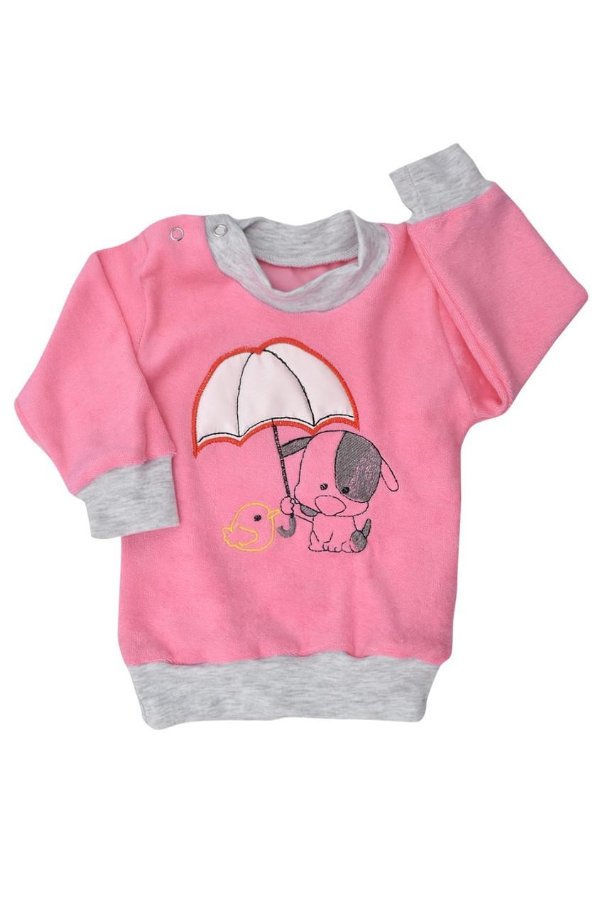 Кофта-гольф Парасолька велюр Бома 68-92 розміри рожевий 0401.60