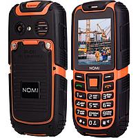 Противоударный Телефон Nomi i242 (2-SIM) IP68 Black-Orange