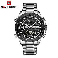 Годинник NAVIFORCE NF9146S Silver Black 45mm Quartz., фото 1