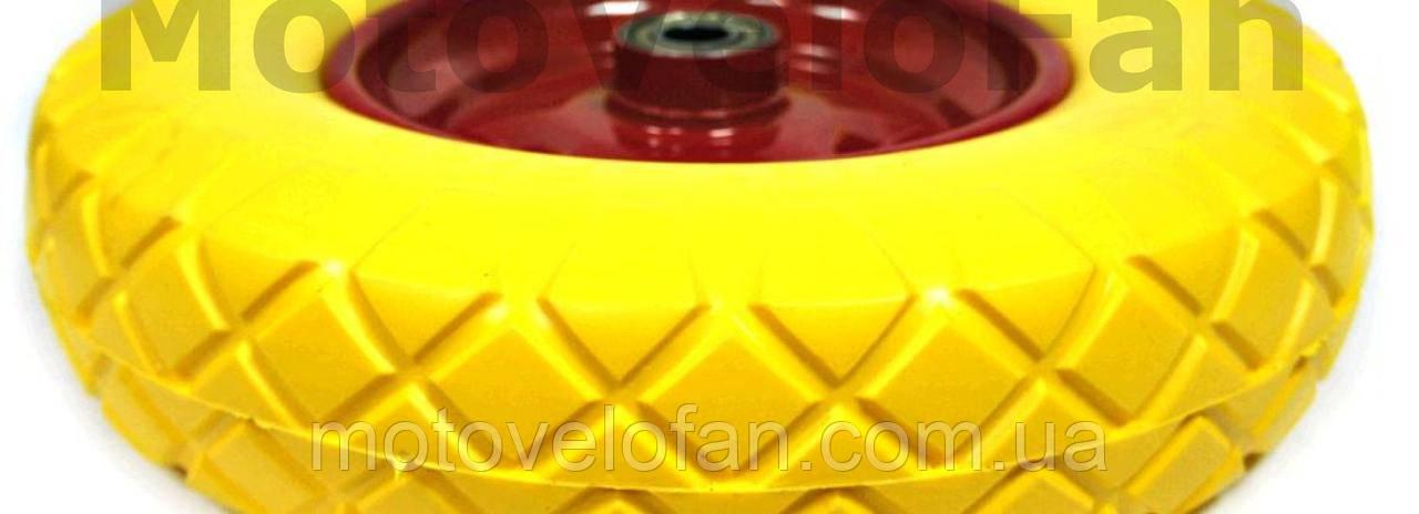 Колесо   5,00 -6   TL   (бескамерное, под ось d-20мм )   (желтое)   MRHD