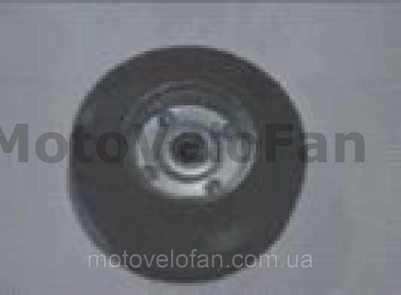 Колесо для тачек и платформ (литая резина)   (125/37,5- 50mm, под ось 12mm, 3 болта)   MRHD