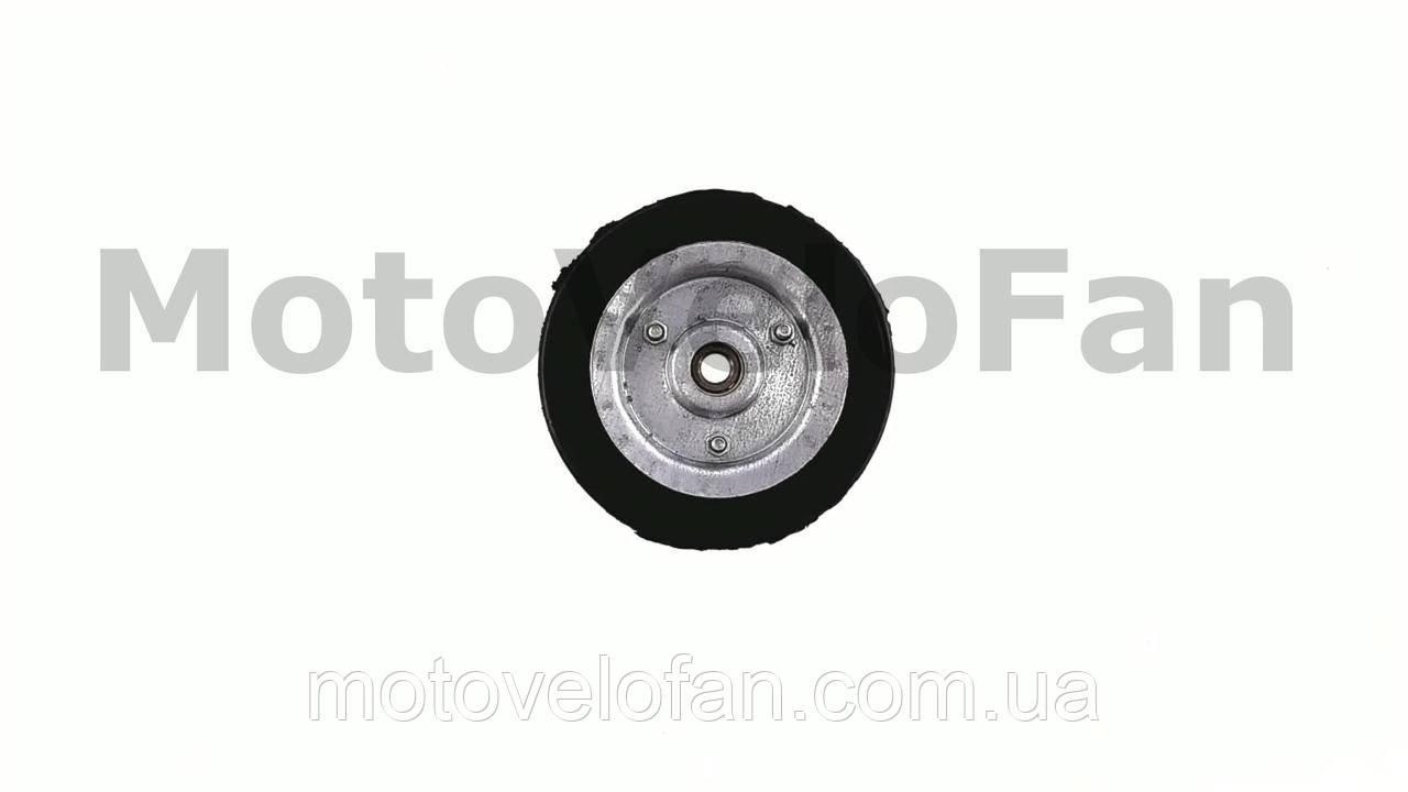 Колесо для тачек и платформ (литая резина)   (125mm, под ось 10mm, 4 болта)   MRHD