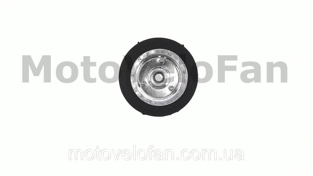 Колесо для тачек и платформ (литая резина)   (125mm, под ось 12mm)   MRHD