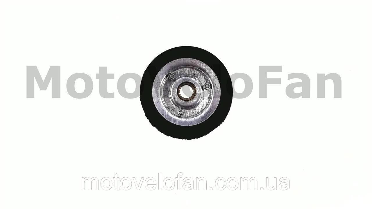 Колесо для тачек и платформ (литая резина)   (125mm, под ось 17mm)   MRHD