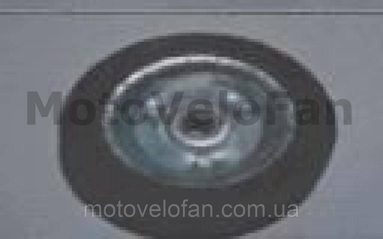 Колесо для тачек и платформ (литая резина)   (160/40- 80mm, под ось 17mm, 3 болта)   MRHD